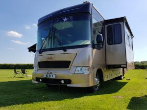 Motorhome on Hire at Goodwood